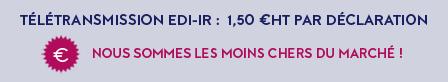 Télétransmission EDI 1.50€ / déclaration aboutie - Moins chers du marché