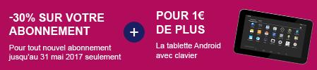 Offre -30% sur votre revue + une tablette pour 1€ de plus