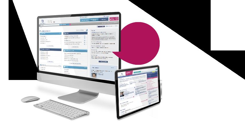 Visuel d'une édition numérique sur un ordinateur